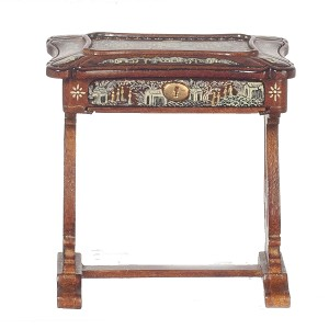 1:12 Scale JBM Miniature Walnut Chinese Sewing Box