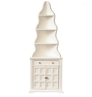 1:12 Scale JBM Miniature Cottage White Display Cabinet