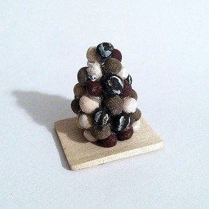 1:12 Scale Miniature Truffle Cake Pop Tower